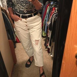 Zara high waist button up jeans 6